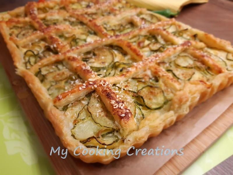Тарта от бутертесто с тиквички и шунка * Crostata salata con zucchine e prosciutto cotto
