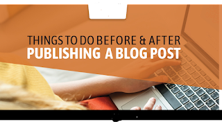 What to do before publishing a blog post?