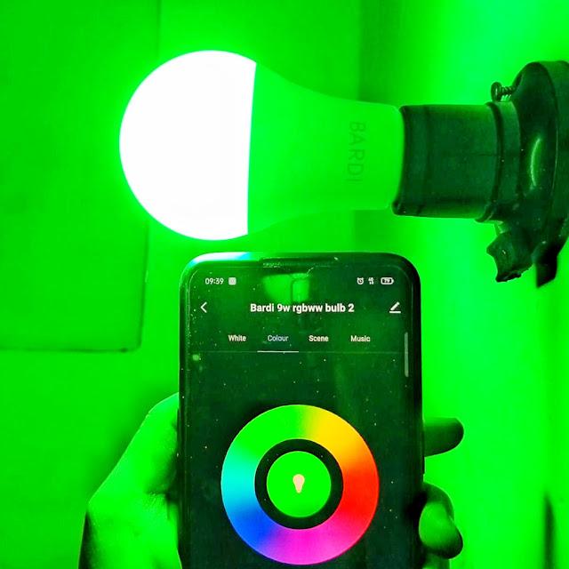 Bardi smart LED Bulb 9W RGBWW