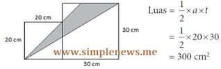 luas segitiga adalah 300 cm² www.simplenews.me