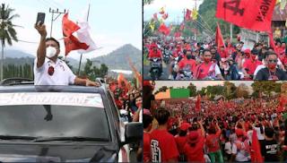 Calon Gubernur Sulut dari PDIP Langgar Prokes Seolah Dibiarkan, Apakah Corona Sudah Hilang?