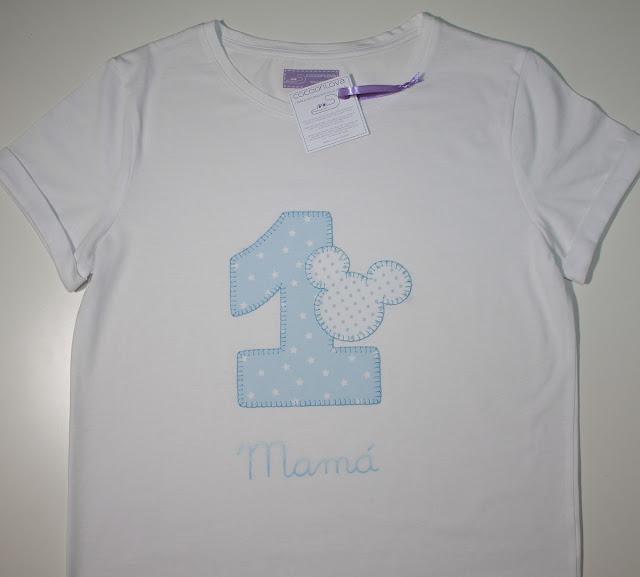 camiseta de cumpleaños 1 año mamá