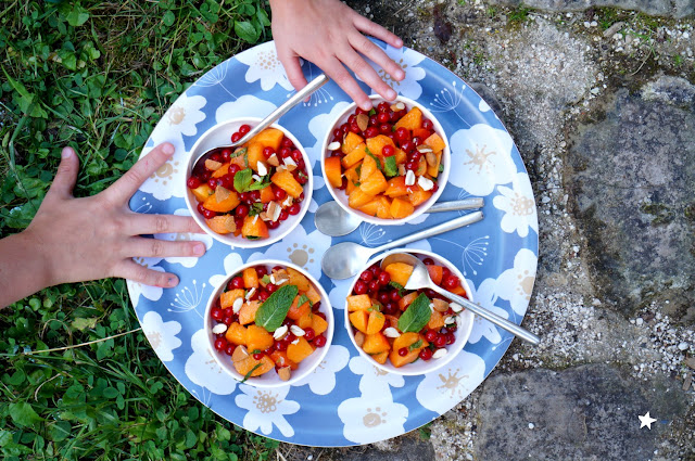 salade abricots groseille menthe dessert été vegan manger sain