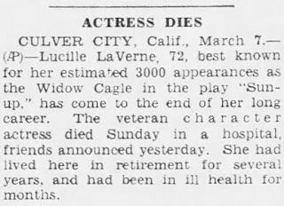 Lucille La Verne Dead