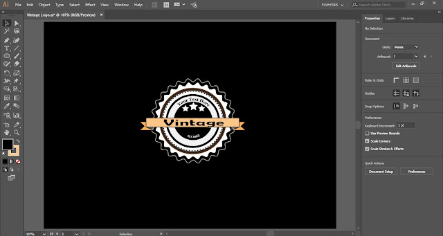 Retro Vintage Logo in Adobe Illustrator
