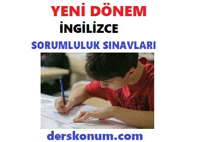 9.Sınıf İngilizce Sorumluluk Sınavı