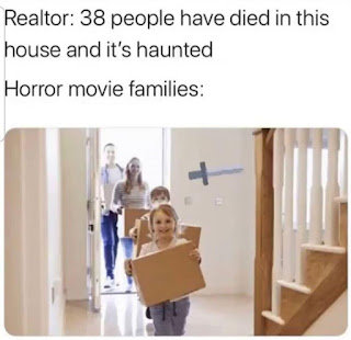 Horror Movies Meme by @thegoodwitchthebadwitch on Instagram