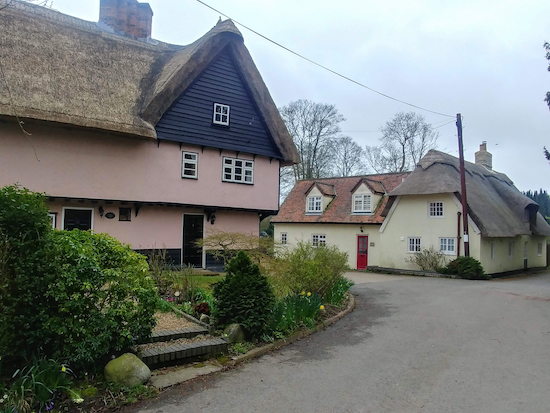 Cottages in Therfield village