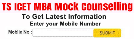 TS ICET MBA Mock Counselling 2021