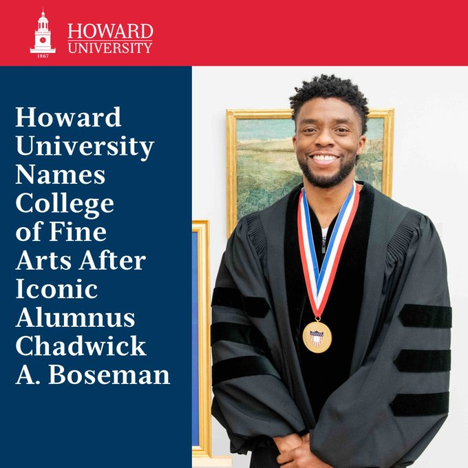 Howard University To Rename College Of Fine Arts After Chadwick Boseman