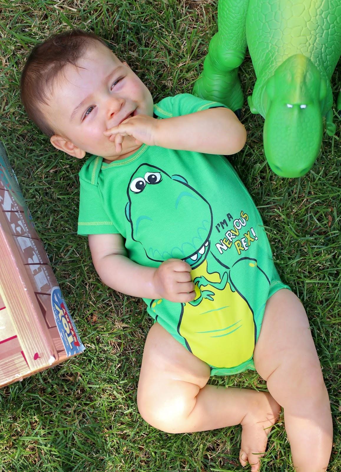 toy story rex onesie baby