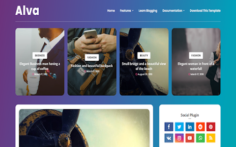 Alva Blogger Templates Free Download From Nayeem Templates