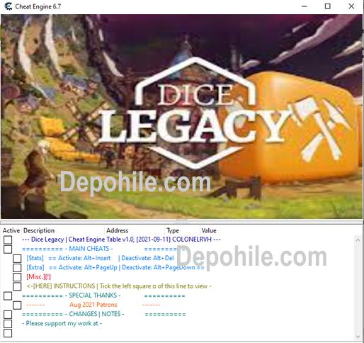 Dice Legacy PC Sınırsız Kaynak, İnşaat Trainer Hilesi İndir