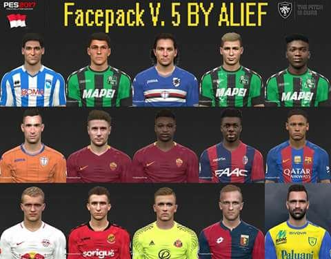 PES 2017 Facepack V. 5 by Alief