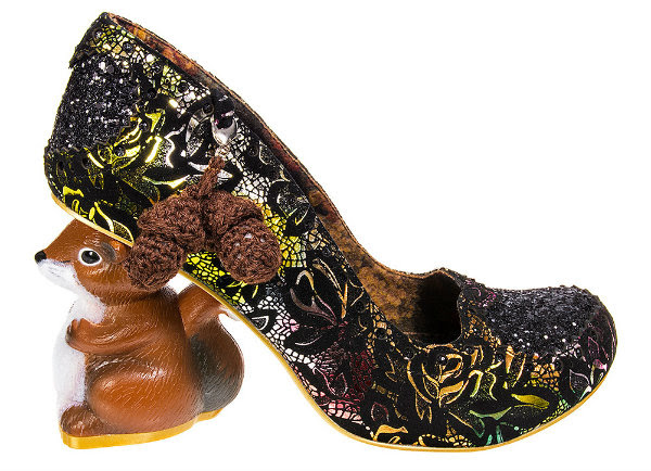 Irregular Choice nibbles mcnutty black