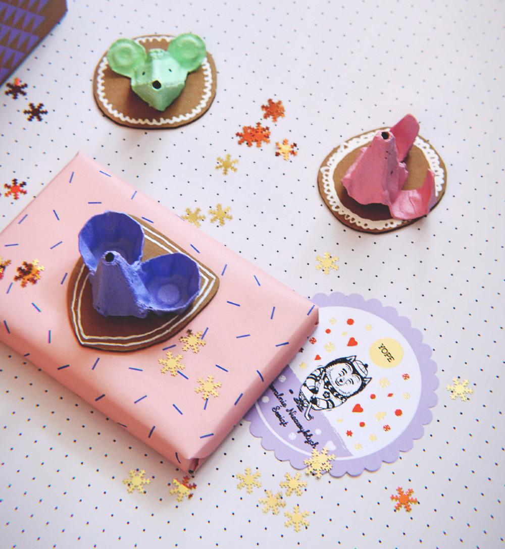 DIY: pakowanie prezentów z Yope, czyli jak wykorzystać pudełko po jajkach?