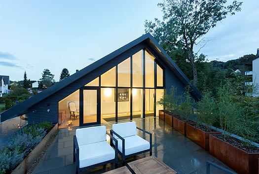 Terrasse im Haus von Architektin von Mann.