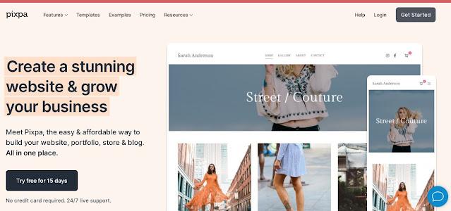 Pixpa website builder platform