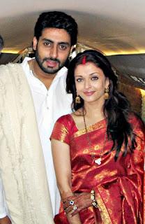 Abhishek Bachchan with his wife Aishwarya Rai Bachchan