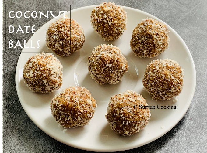 Coconut Date Balls Recipe   No Bake Coconut Date Energy Balls   Startup Cooking