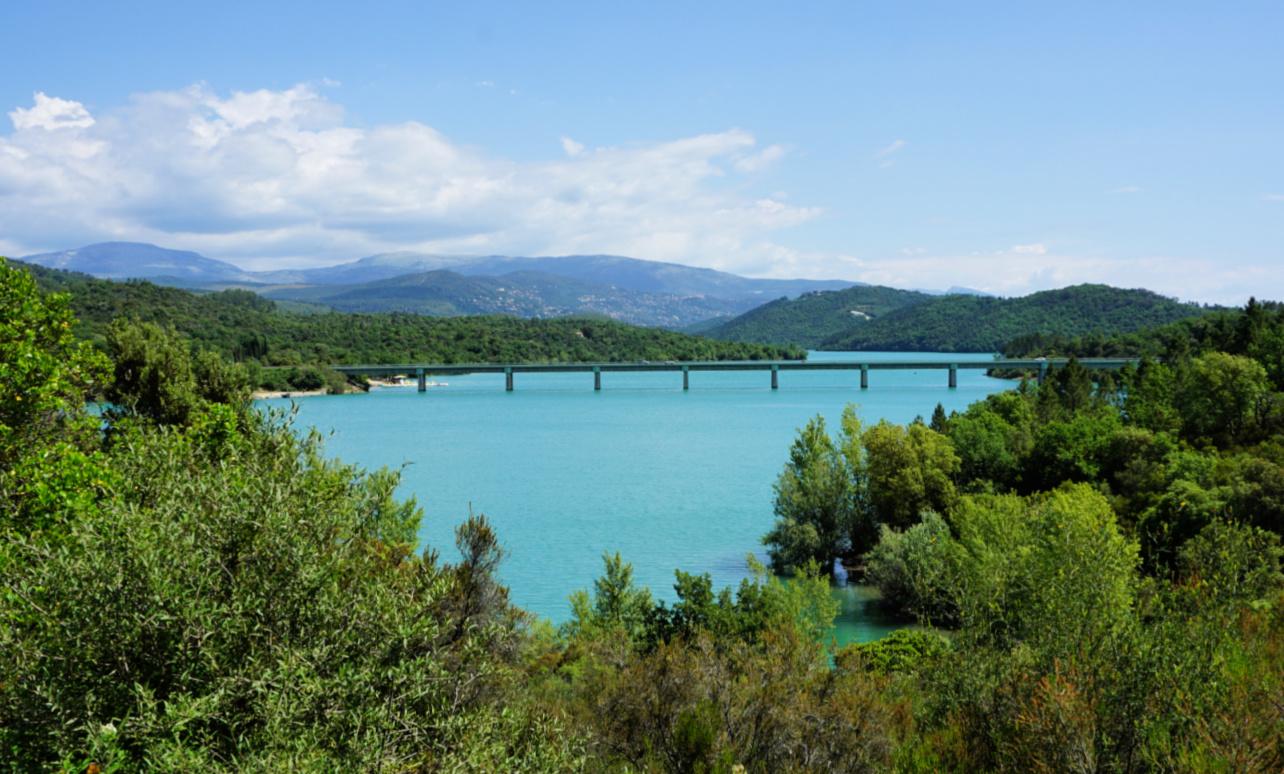 Pré Claou Bridge over St-Cassien Lake