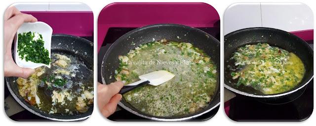 Paso a paso Cocochas de bacalao en salsa verde