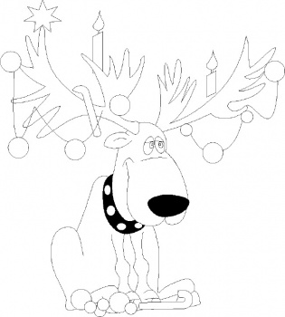 christmas gift: 11 Rudolph Reindeer Coloring Pages