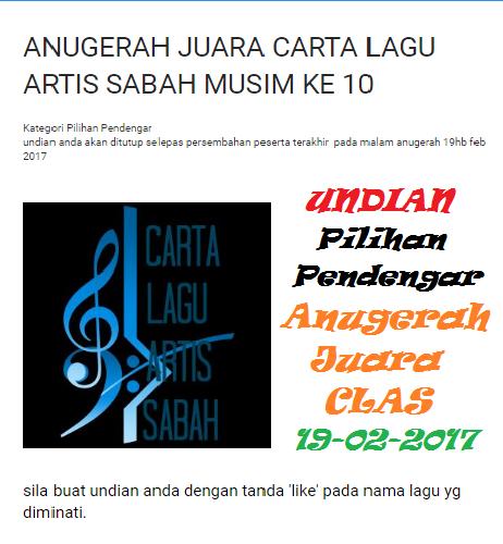 Undian Pilihan Pendengar Anugerah Juara CLAS