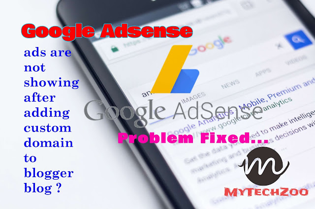 Why google ads are not showing after adding custom domain to blogger blog?