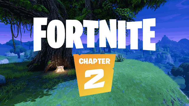 The Fortnite Chapter 2 section emphasizes a new map and graphics