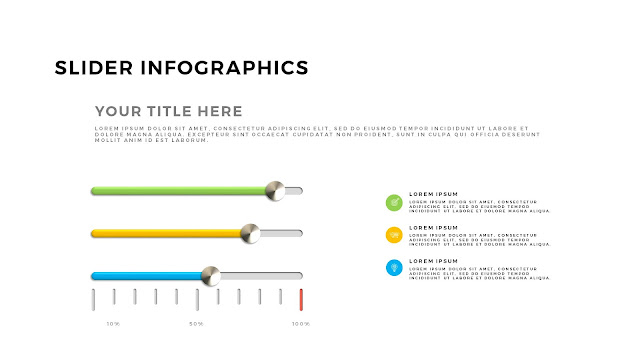 Free PowerPoint Template with Slider Infographics Slide 7