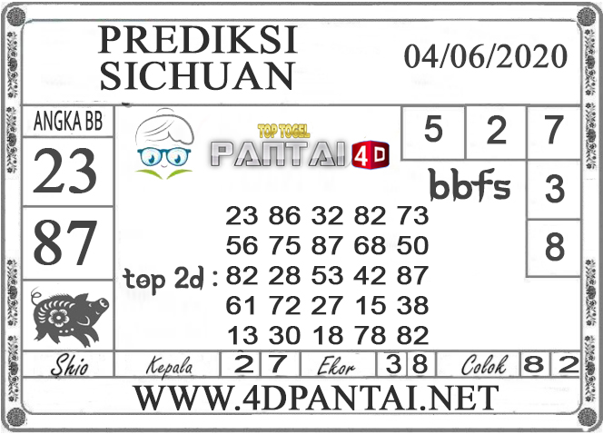 PREDIKSI TOGEL SICHUAN PANTAI4D 04 JUNI 2020