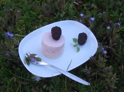 Rosa Schmand-Dessert-Törtchen