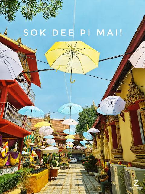 Temple umbrella decorations