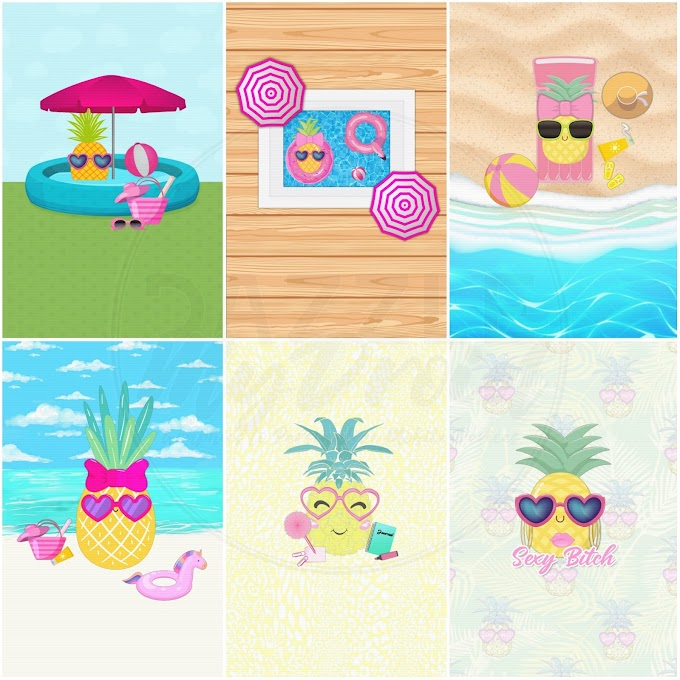 Wallpaper Bundle Pineapple Crazy v.2