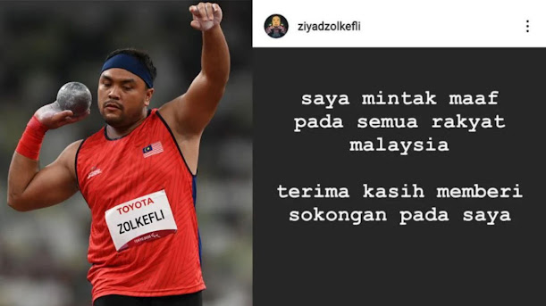 Rayuan Ditolak , Ziyad Mohon Maaf Terlepas Pingat Emas Paralympic 2020
