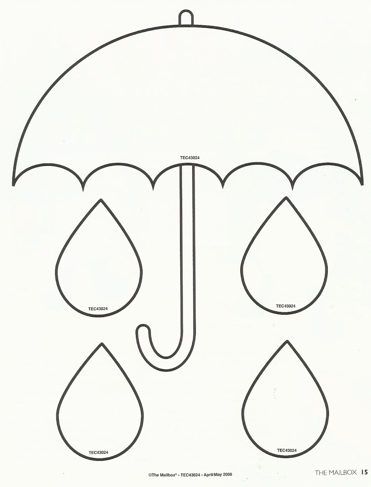 printable umbrella template for preschool umbrella preschool craft rainwear