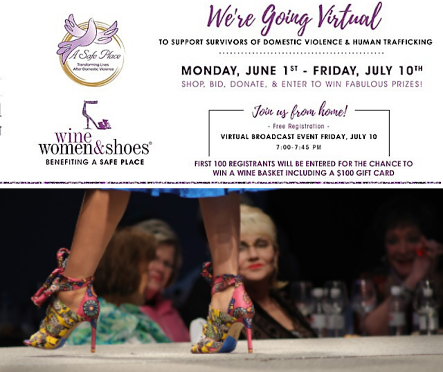 Wine, Women & Shoes Benefiting A Safe Place Goes Virtual July 10, 2020
