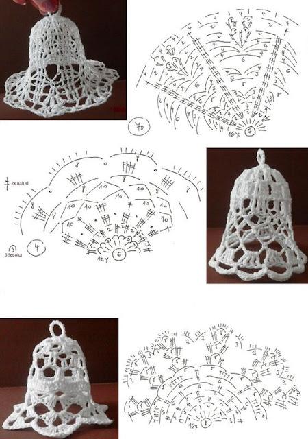 елочные украшения своими руками схемы и мотивы для вязания крючком