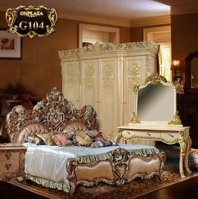 trọn bộ giường ngủ phong cách tân cổ điển