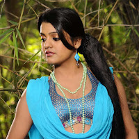 Pretty Thashu kaushik latest hot blue dress exclusive images