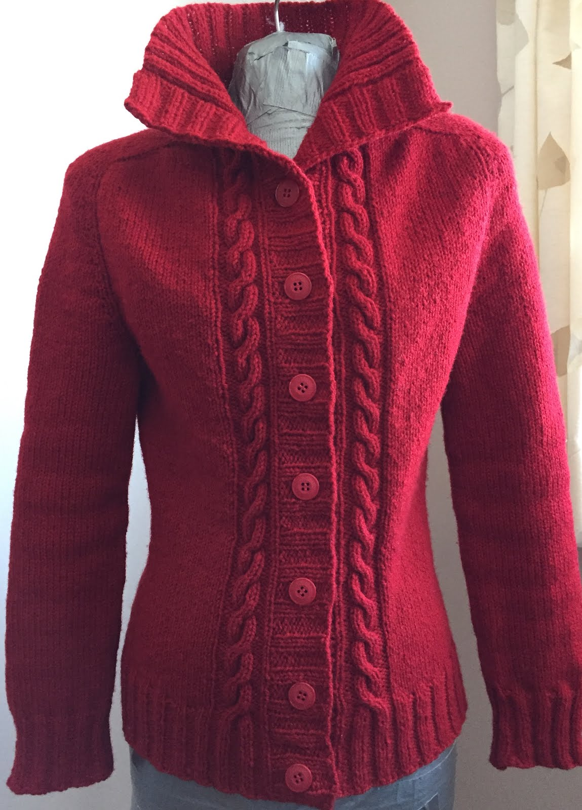 The Sewing Lawyer: Complicated hand-knit cardigan ... phew!
