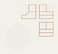 Figura 13 Representación isométrica a partir de las vistas