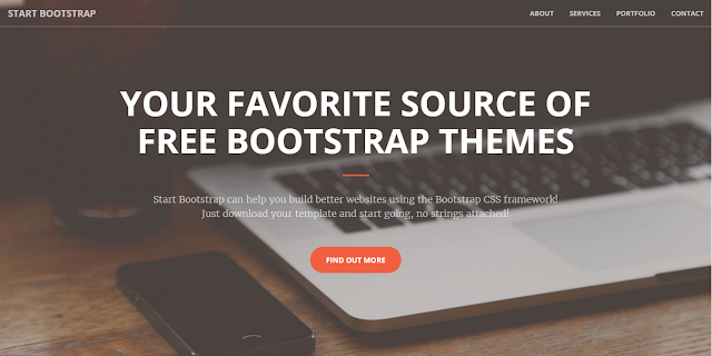 Creative - A one page creative Bootstrap theme.