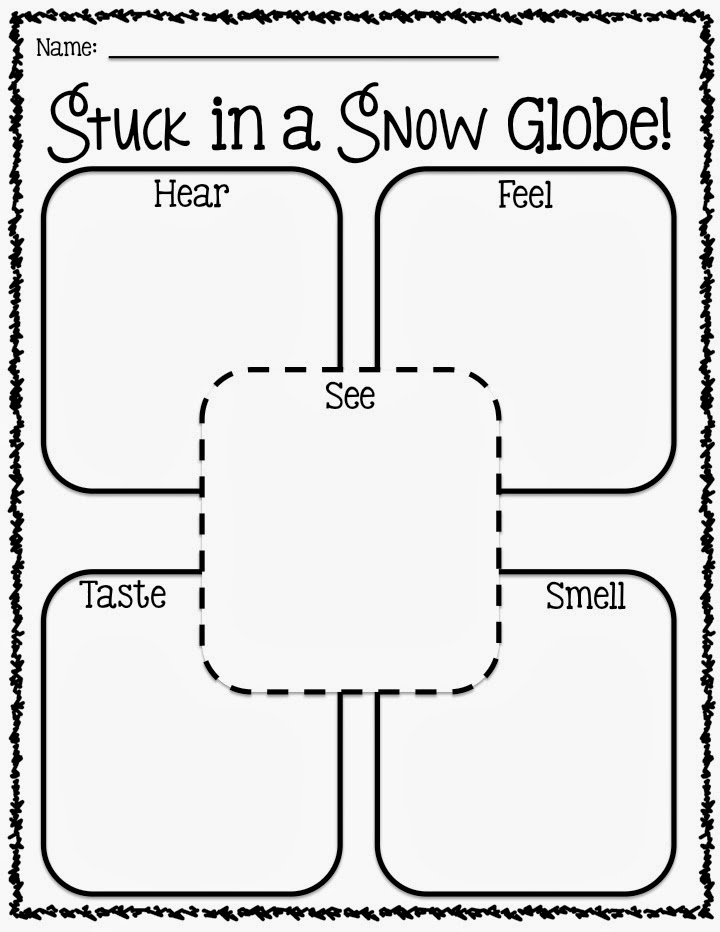 trapped in a snow globe writing activity for grade