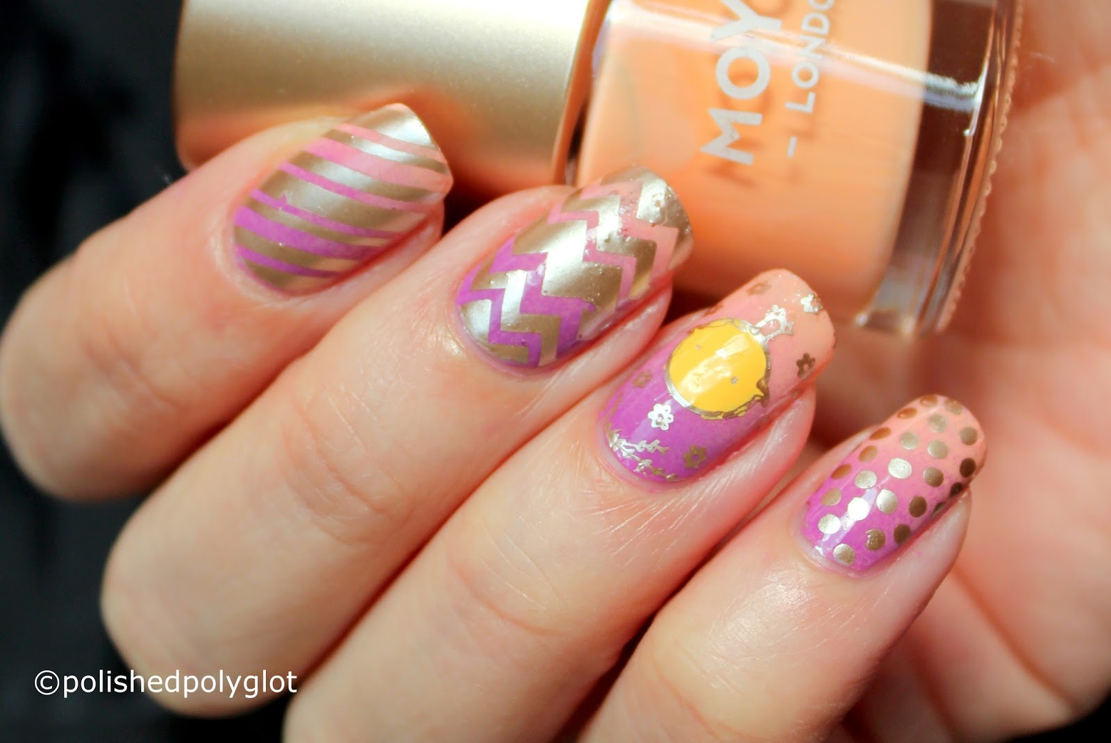 Nail Art │ Easter Manicure with MoYou London Stamping plate ...