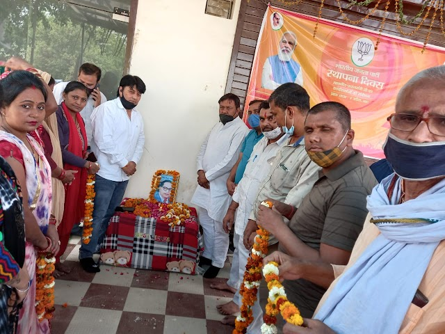 गौतमबुद्धनगर भाजपा कार्यकर्ताओं ने अपने अपने बूथ पर भारत रत्न बाबा साहेब डा0 भीमराव अंबेडकर की जयंती मनाई