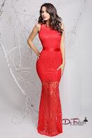 rochie-lunga-de-ocazie-Red Satin