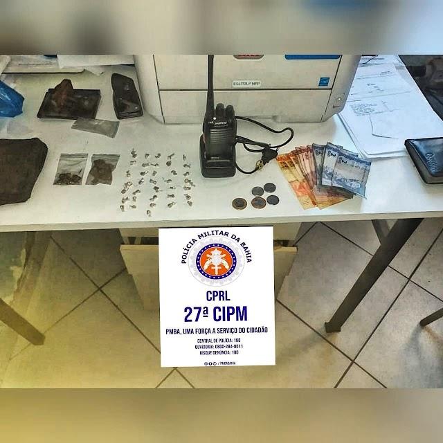Dois suspeitos são presos com drogas em Muritiba