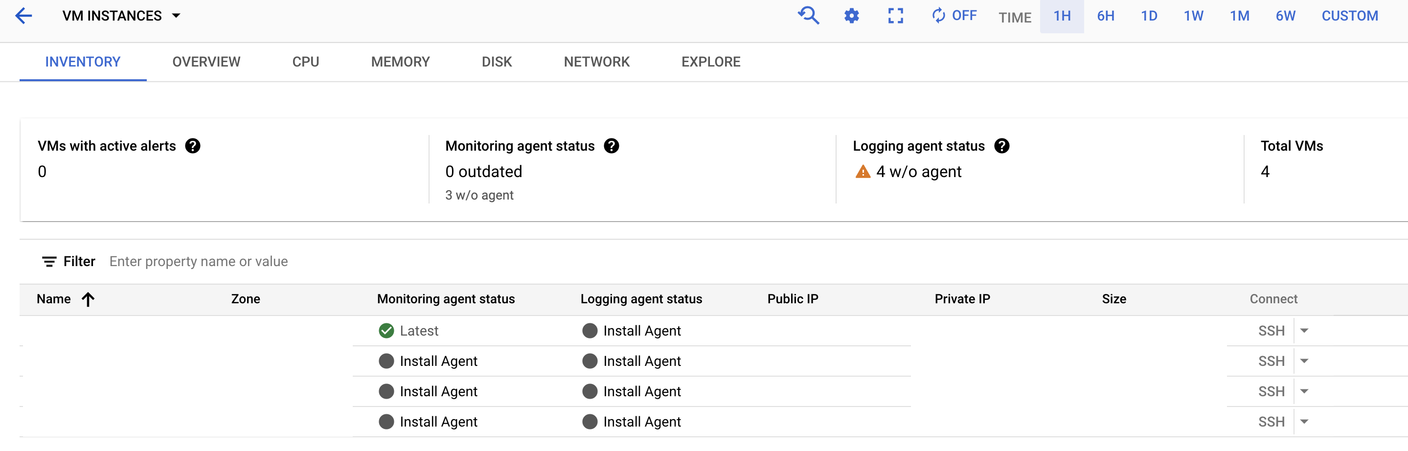 Google Cloud Logging - installing Cloud Logging Agent through Cloud Console